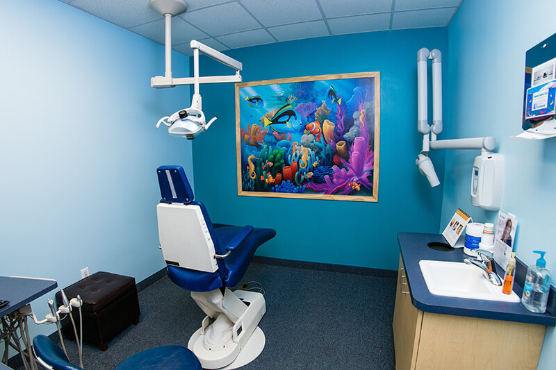 Exam room for Kennedy Dental Care Saratoga Office